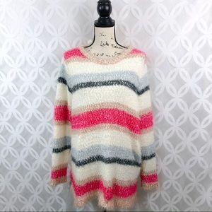 Lane Bryant Back Bow Fuzzy Soft Sweater